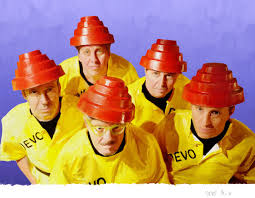 photograph of the new wave band Devo